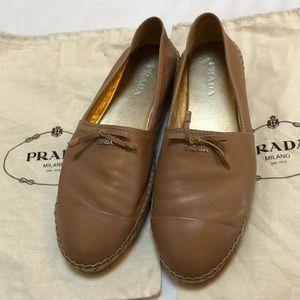 Prada Espadrilles Leather Tan 40